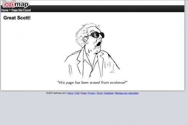 Página de erro 404 do Bedmap (Foto: Reprodução/BusinessInsider)