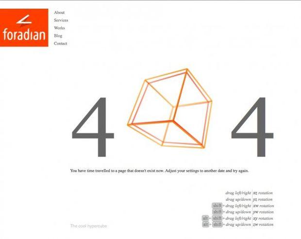 Página de erro 404 da Foradian (Foto: Reprodução/BusinessInsider)