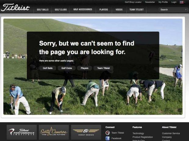 Página de erro 404 do Fitleist (Foto: Reprodução/BusinessInsider)