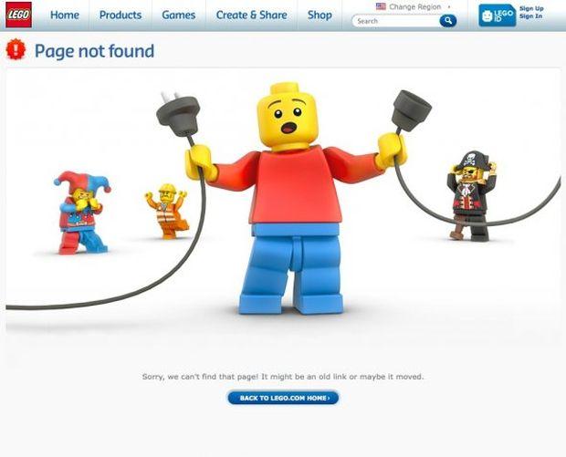 Página de erro 404 da Lego (Foto: Reprodução/BusinessInsider)