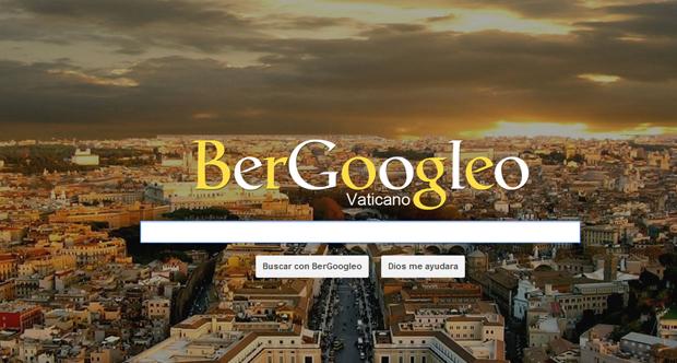 Bergoogleo, o buscador em homenagem ao papa (Foto: Reprodução)