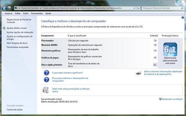 Índice de Experiência do Windows não é confiável (Foto: Reprodução/Gsmfans)