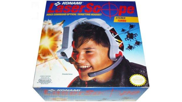 O headset com mira a laser da Konami para o NES (Foto: Divulgação)