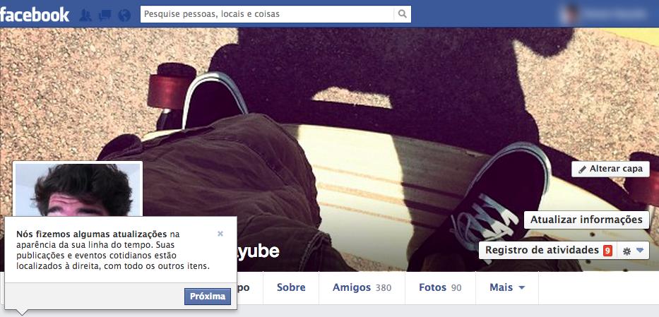 Nova Timeline do Facebook integra a nova cara mais limpa para o perfil do usuário (Foto: Reprodução/TechTudo)