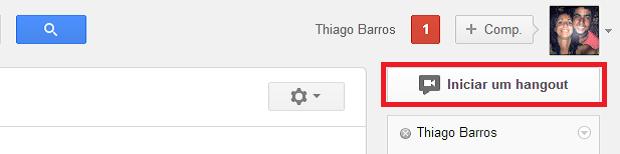 Hangout pode ser iniciado da página principal da rede social (Foto: Thiago Barros/TechTudo)