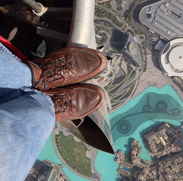 Imagem feita no prédio mais alto do mundo (Foto: Reprodução/ Joe McNally)