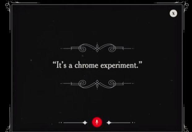 """""""É uma experimento do Chrome"""", diz criança no vídeo (Foto: Reprodução/YouTube)"""