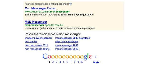 Cuidado com anúncios de sites desconhecidos no Google (Foto: Reprodução Google)