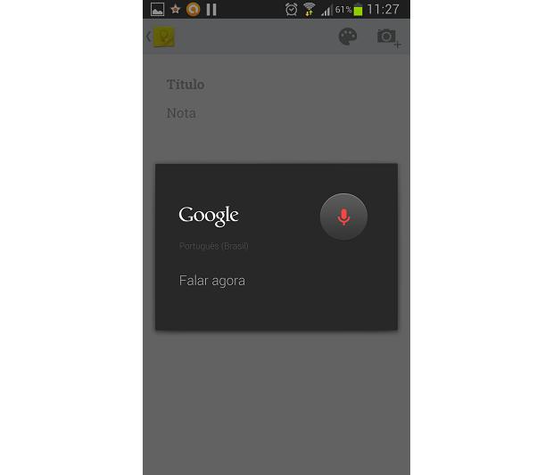 Google Keep oferece gravação de notas de voz (Foto: Thiago Barros/TechTudo)