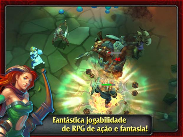 Heroes of Destiny tem ótima qualidade gráfica e jogabilidade intuitiva (Foto: Divulgação)