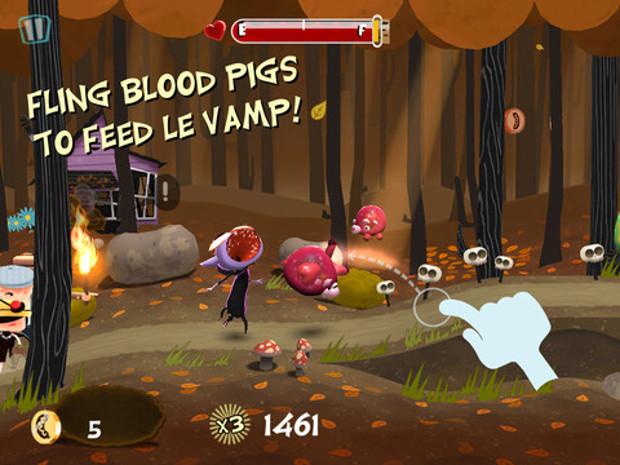 Em Le Vamp você deve alimentar esse vampirinho com porcos (Foto: Divulgação)