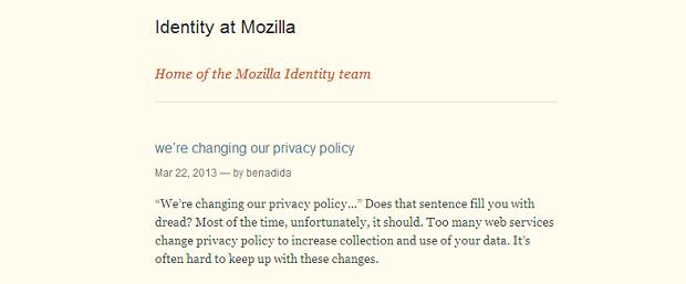 Nota comunicando atualizações foi postada no site da empresa (Foto: Reprodução/Mozilla) (Foto: Nota comunicando atualizações foi postada no site da empresa (Foto: Reprodução/Mozilla))