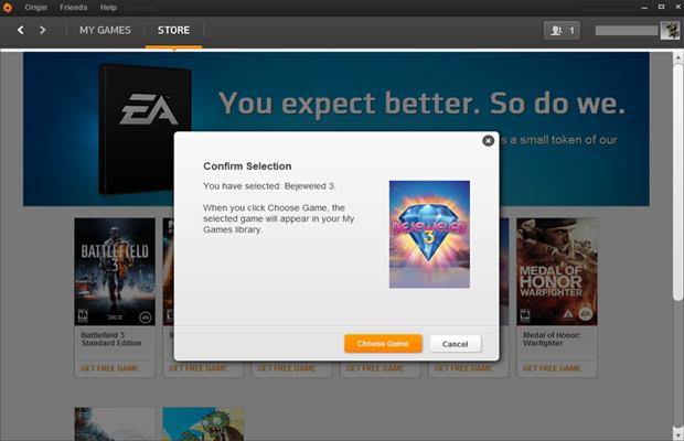 Uma janela aparecerá para confirmar se quer aquele jogo mesmo (Foto: Divulgação)