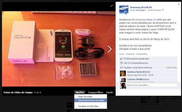 Sorteio Samsung (Foto: Sorteio Samsung)