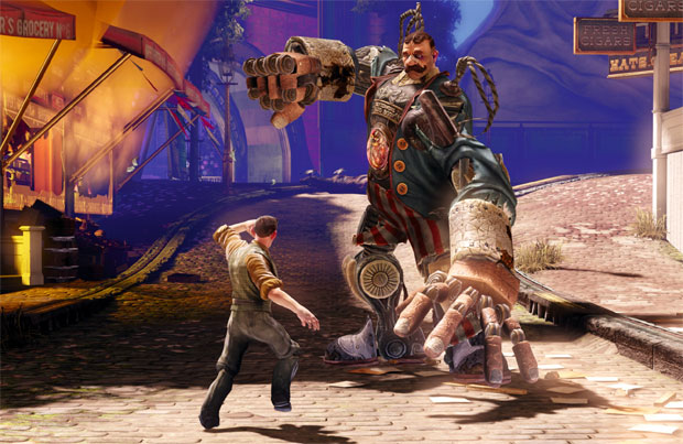 Inimigos bizarros estão presentes em BioShock Infinite (Foto: Divulgação) (Foto: Inimigos bizarros estão presentes em BioShock Infinite (Foto: Divulgação))