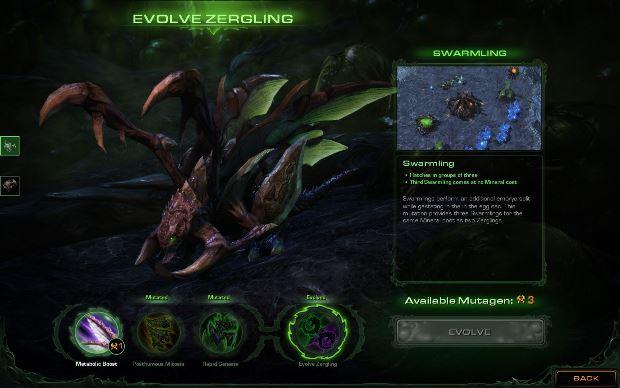 Um zergling depois da primeira missão evolutiva (Foto: Divulgação)