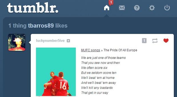 Página do próprio Tumblr exibe os likes (Foto: Thiago Barros/TechTudo) (Foto: Página do próprio Tumblr exibe os likes (Foto: Thiago Barros/TechTudo))