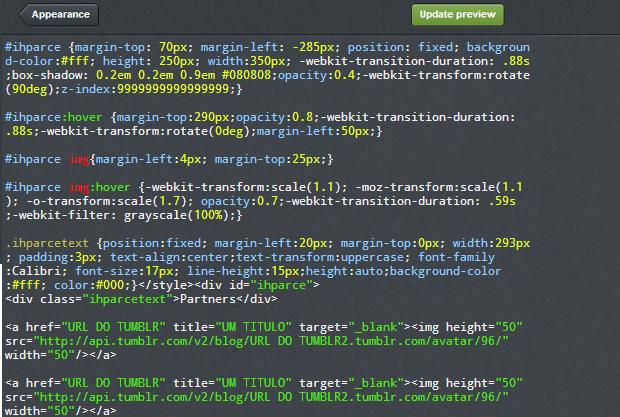 Códigos devem ser colados desta forma (Foto: Thiago Barros/TechTudo)