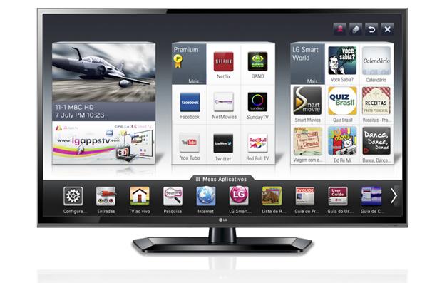 LG 42LS5700 ficou com a quarta posição. TV tem três portas USB e pode acessar a Internet via RJ45 ou Wi-Fi (Foto: Divulgação)