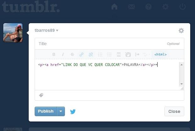 Como Colocar Link Em Uma Palavra No Tumblr Dicas E Tutoriais