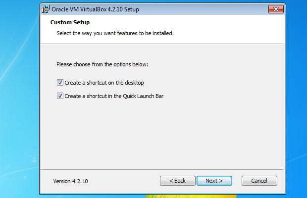 Escolhendo onde serão instalados ícones do VirtualBox (Foto: Reprodução/Edivaldo Brito)