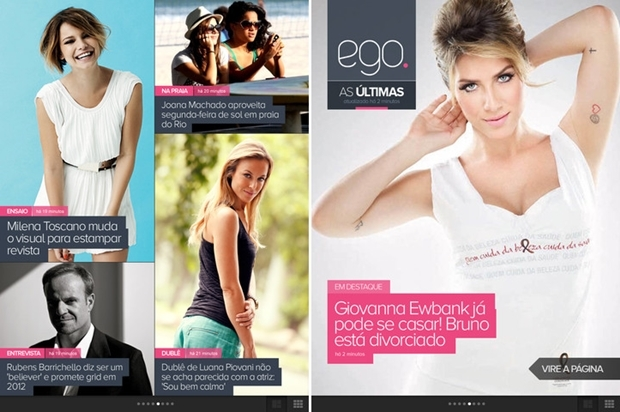 Ego para iPad (Foto: Reprodução/ Raquel Freire) (Foto: Ego para iPad (Foto: Reprodução/ Raquel Freire))