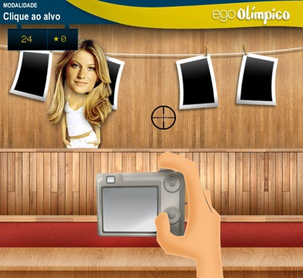 Jogo Ego Olímpico, em que jogador vira paparazzi (Foto: Reprodução/ Raquel Freire)