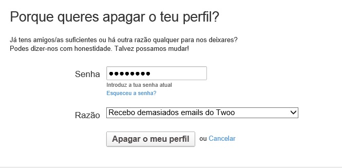 Twoo spam email