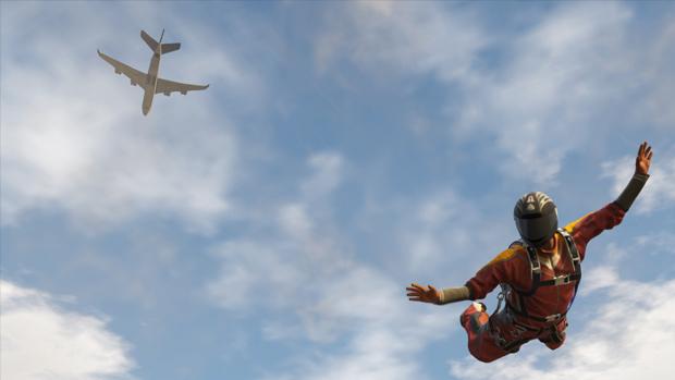 Salto de paraquedas de GTA V. (Foto: Divulgação) (Foto: Salto de paraquedas de GTA V. (Foto: Divulgação))