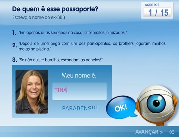 Quiz Passaporte BBB (Foto: Reprodução/ Raquel Freire)