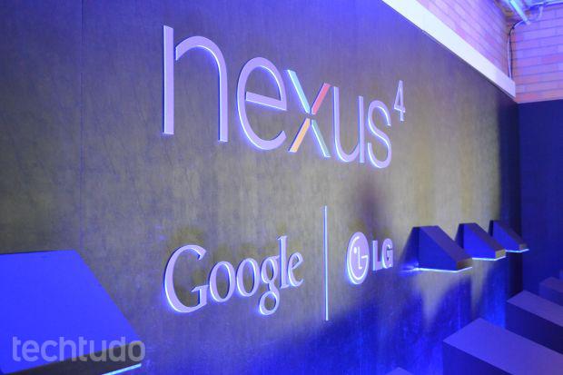 Nexus 4 vai ser fabricado no Brasil pela LG, mas chega sem subsídios do Google (Foto: Pedro Zambarda/TechTudo)