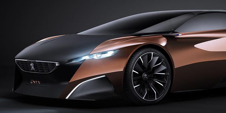 Componentes do carro feito em cobre resultam num aspecto muito bonito (Foto: Divulgação/ Peugeot)