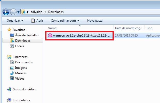Executando o instalador baixado (Foto: Reprodução/Edivaldo Brito) (Foto: Executando o instalador baixado (Foto: Reprodução/Edivaldo Brito))