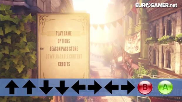 O clássico Konami Code destrava o modo 1999 de BioShock Infinite (Foto: Reprodução)