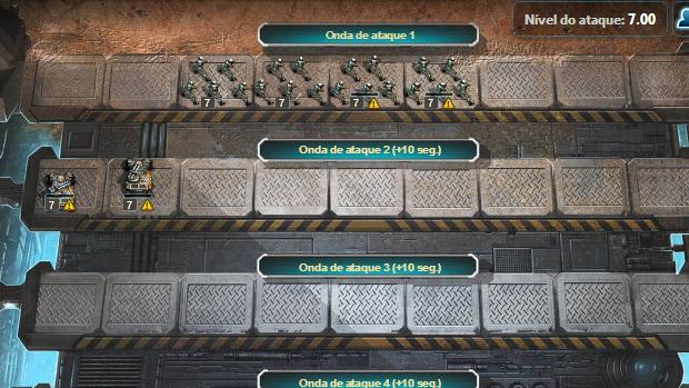 Preencha os slots para adquirir um poder de ataque maior. (Foto: Reprodução)