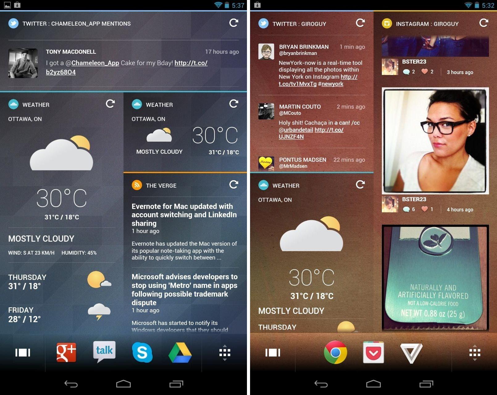 Chameleon permite mudar interface do seu Android (Foto: Divulgação)