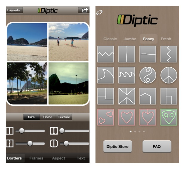 Aplicativo Diptic para iOS (Foto: Aline Jesus/Reprodução)