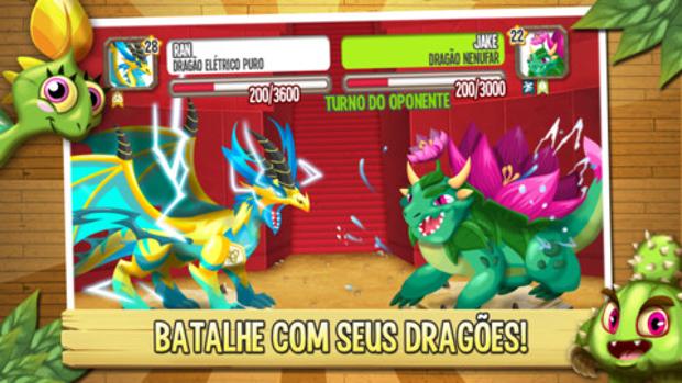 Dragões fofinhos se transformam em grandes monstros lutadores em Dragon City (Foto: Divulgação)