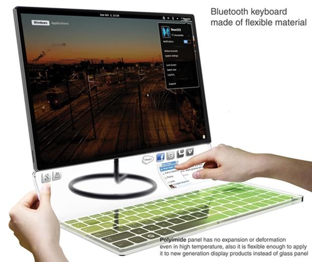 Cover Keyboard, teclado-conceito criado por Lee Dano (Foto: Reprodução)
