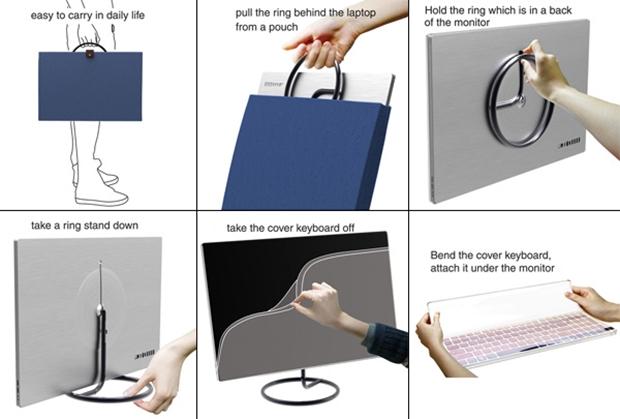 Demonstração de transporte e uso do Cover Keyboard (Foto: Reprodução)