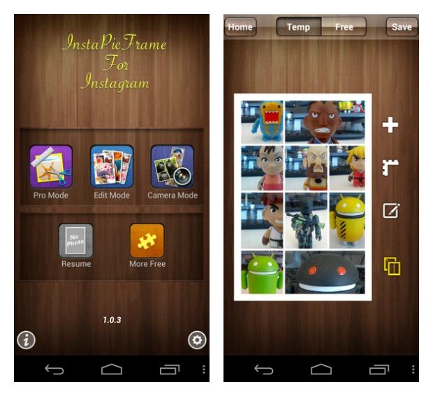 InstaPicFrame para Android (Foto: Reprodução/Android)