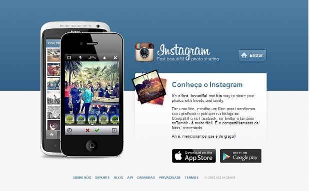 Site do Instagram (Foto: Reprodução)