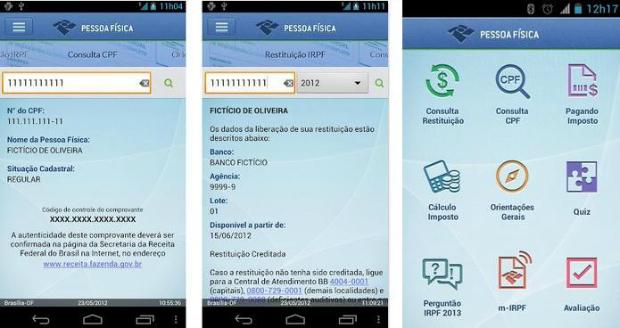 App oferece diversas consultas da Receita (Foto: Divulgação)