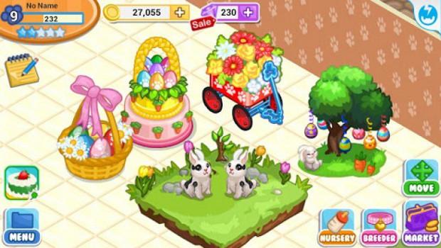 Cuide dos coelhinhos da Páscoa em Pet Shop Story: Easter (Foto: Divulgação)