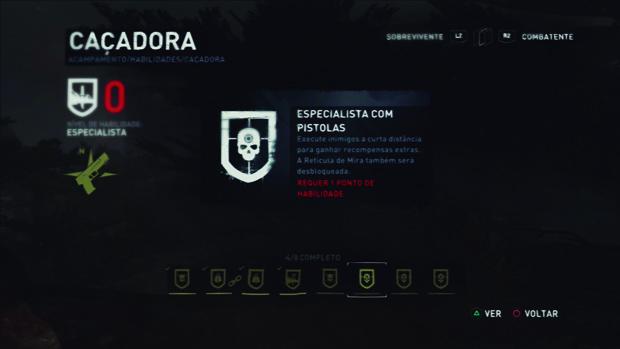 O jogador pode evoluir as habilidades através dos pontos. (Foto: Reprodução)