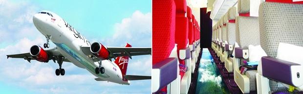 Avião com vidro no chão agradou aos internautas (Foto: Reprodução/Virgin)