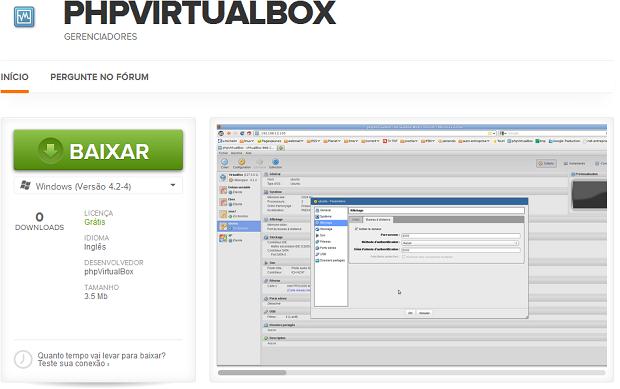 Baixando o phpVirtualBox no TechTudo Downloads (Foto: reprodução/Edivaldo Brito)
