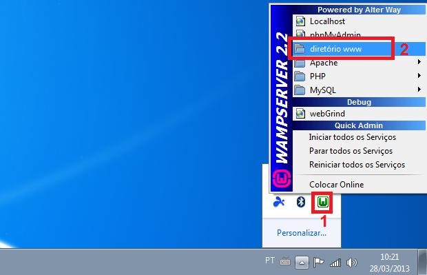 Acessando a pasta principal do servidor web (Foto: Reprodução/Edivaldo Brito)