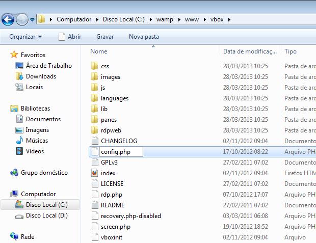 Renomeando o arquivo de configuração do phpVirtualBox (Foto: Reprodução/Edivaldo Brito)