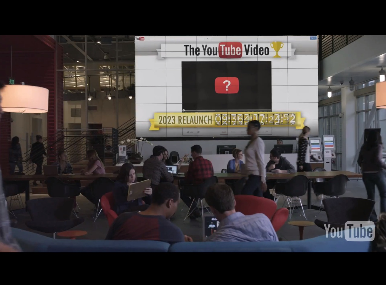 Em um vídeo a empresa anuncia que o YouTube é na realidade um grande concurso